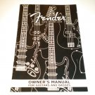 Fender Owners Manual for bass and guitar Owner's Guide basses guitars