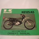 1978 Kawasaki KE125-A5 KE 125 A5 Owners Manual Owner&#39;s Guide