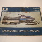 Kawasaki Intruder ST440-A2 Owners manual Owner's guide Vintage Snowmobile