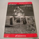 2007 Honda Sportrax 450R and 450ER ATV Owners Manual TRX450R and TRX450ER
