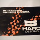 HARO Designs All-Terrain Bike Bicycle Owner's Manual Owners Guide