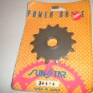 Honda CR125 Front Countershaft Sprocket SunStar 34414 14 tooth 14t CR 125 R CR125R 125R