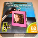 NEW Shift 3 DIGITAL PHOTO KEYCHAIN Pink frame NIB album 60 pictures 8 Mb 1.5""