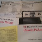 1997 Dodge Dakota Owners Manual Owners's Guide