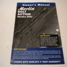 Marlin Bolt Action Rimfire Rifle Owner's Manual; Original 7/08