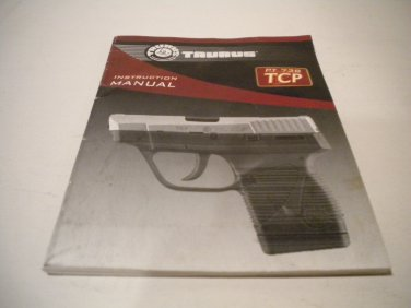 Taurus PT 738 TCP .380 Semi Automatic Instruction Manual; Original