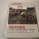Honda Cr125R 1992-1997, Cr250R 1992-1996 (Clymer Motorcycle Repair)