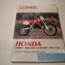 CLYMER MANUAL CR80R 1989-1995 CR125R 1989-1991 P/N M431-2