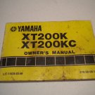 1983 YAMAHA XT200K XT200KC FACTORY OWNERS MANUAL OWNER'S GUIDE