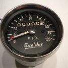 Vintage Sno-Jet Snowmobile Speedometer Snow Sled Speedo Snowjet