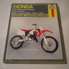 Haynes Honda CR Motocross Bikes 86-01 Owners Workshop Manual
