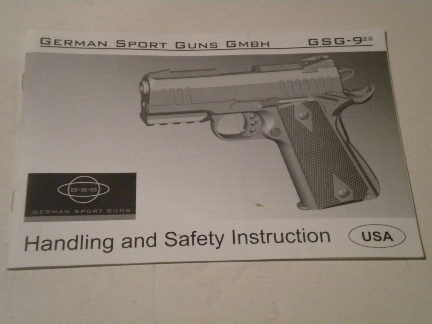 GERMAN SPORT GUNS GSG-9 22 Instruction Manual From American Tactical Imports