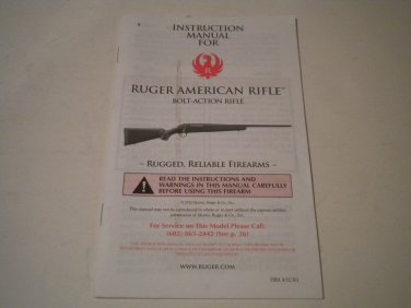 Ruger American Rifle Owner's Manual, NICE!