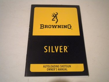 Browning Silver Shotgun Owner's Manual, NICE!