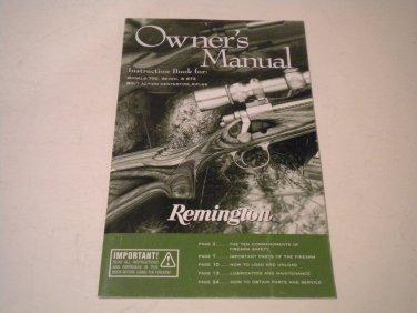 Remington 700 BDL, Seven, 673 Rifle Owner's Manual, 2010, NICE!