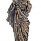 "Sacred Heart Of Jesus Statue, Cold-Cast Bronze, 8"""