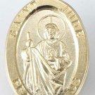Gold over Sterling Silver Saint Jude Medal