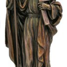 St. Thomas Statue, Lightly Hand-Painted Cold Cast Bronze, 8""
