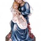 """Madonna And Child Statue, Hand-Painted, 9.5"""""""