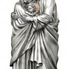 Holy Family Statue Pewter Style Finish, Golden Highlights, 10""