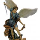"""St.Michael Statue, Fully Hand-Painted, 14.5"""""""