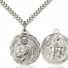 Sterling Silver St Jude/Guardian Angel Pendant 36-82/05Sterling Silver/24S
