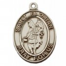 Sterling Silver Saint Florian Medal 24 inch Chain & Box
