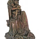 """Madonnna And Child Seated, Hand-Painted, Cold-Cast Bronze, 26"""""""
