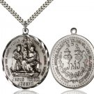 Sterling Silver Holy Family Pendant 30-29/R29Sterling Silver/24S