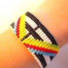 Triangle color loom bracelet unique bracelets unique beaded loom woven bracelet
