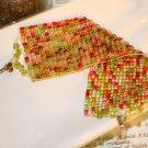 Tropical colored loom bracelet beaded bracelets wide beaded cuff loom bracelet Handmade bracelet