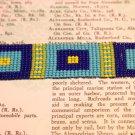 Square design loom bracelet beaded bracelet handmade hand woven loom bracelet