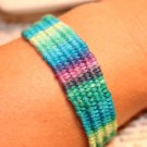 Blue and purple tie dye friendship bracelets tie on friendship bracelet