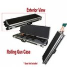 Black Hard Sided Rolling Rifle Case