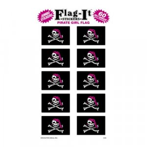 Pirate Girl Flag Stickers