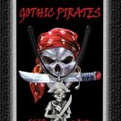 Gothic Pirate Necklace Sword & Pirate