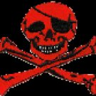 Jolly Roger Patch Red