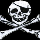 Jolly Roger Patch White