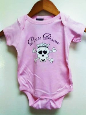 Pirate Princess Onesis Size 6 months
