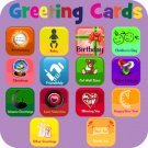 Download FREE from any playstore a virtual Greeting Card. Text or Email a Card.