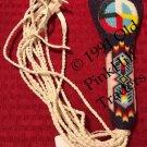 Handcrafted Beaded Flat Fan Handle 0281 - Spirit