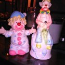 Lot x2 Lipco Porcelain Clowns Bells Figurines Home Decor Collectibles