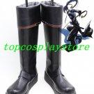D Gray-Man Yu Kanda Black Long Cosplay Boots shoes D Gray-man D Gray man