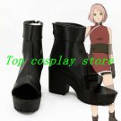Naruto Sakura Haruno The Last Ninja Cosplay Boots shoes black short Ver #NAR004