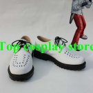 Tekken 6 STEVE FOX Cosplay Boots shoes white #TK04 shoe boot