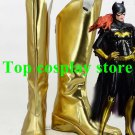 Batman Batgirl Cosplay Shoes Golden Boots shoes gold ver shoe boot