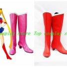 Sailor Moon Chibi Usa Usagi Tsukino Cosplay Boots shoes red Version B #SC003