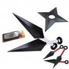 Cosplay Naruto shippuden Headband Leaf Village shuriken Kunai weapon weapons set