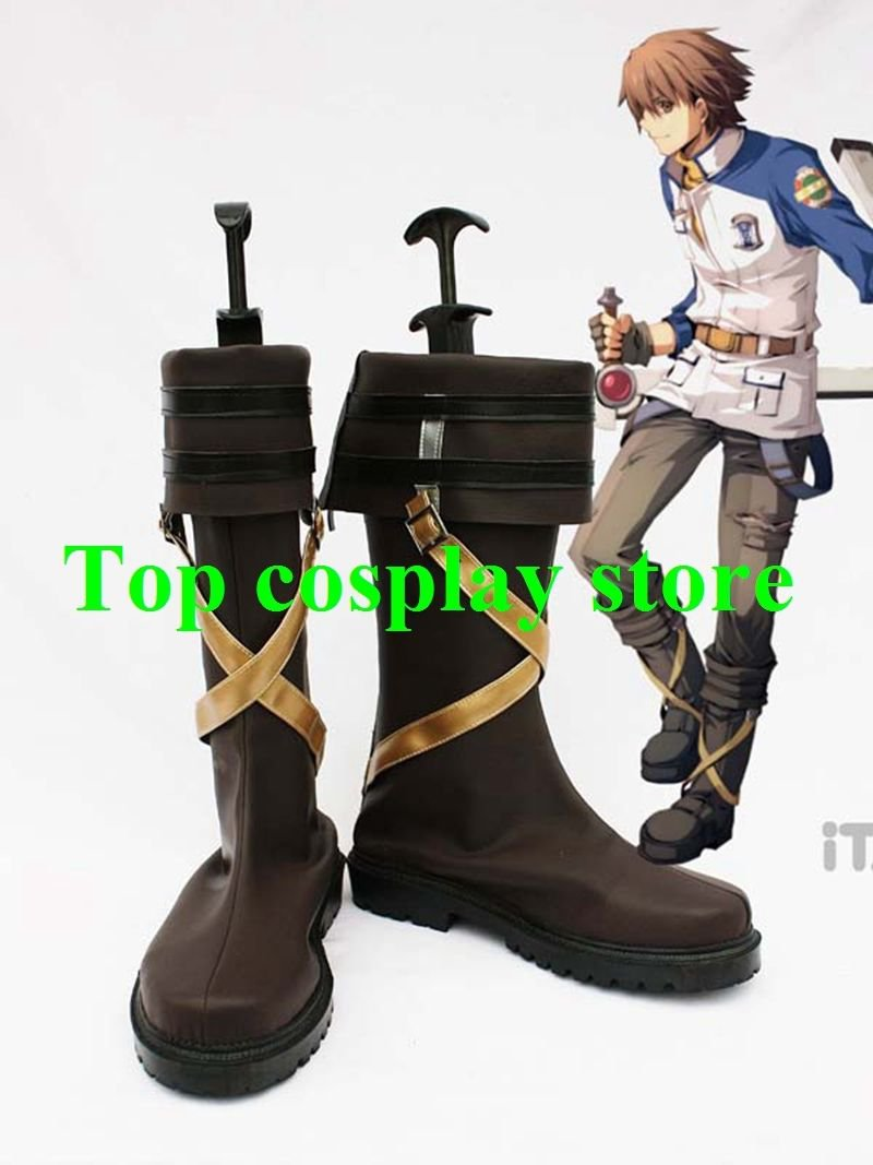 The Legend of Heroes Zero No Kiseki Lloyd Bannings Cosplay Boots shoes #LH013