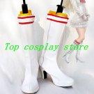 Tekken 5DR Lili White Cosplay Boots shoes #TK03  shoe boot